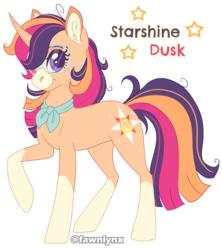 Size: 1446x1631 | Tagged: safe, artist:frostedpuffs, oc, oc:starshine dusk, pony, unicorn, female, glasses, mare, offspring, parent:sunburst, parent:twilight sparkle, parents:twiburst, solo