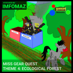 Size: 2246x2246 | Tagged: safe, artist:wvdr220dr, oc, earth pony, pony, robot, robot pony, airplane!, drone, female, forest, imfomaz os, monster, song, theme song