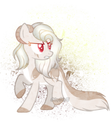 Size: 2019x2245 | Tagged: safe, artist:starling-sentry-yt, oc, oc:lydia, earth pony, pony, base used, female, horns, mare, solo