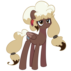 Size: 1280x1280 | Tagged: safe, artist:turtlefarminguy, oc, oc only, oc:sweet mocha, pegasus, pony, female, grumpy, simple background, solo, transparent background