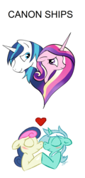 Size: 864x1800 | Tagged: alicorn, artist:owl-eyes, artist:silfoe, blushing, bon bon, boop, bust, edit, eyes closed, female, heart, lesbian, love, lyrabon, lyra heartstrings, male, mare, noseboop, nose wrinkle, nuzzling, pony, princess cadance, safe, shining armor, shiningcadance, shipping, simple background, smiling, stallion, straight, sweetie drops, text, transparent background, unicorn, white background