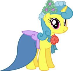 Size: 905x883 | Tagged: artist:ambassad0r, bridesmaid dress, clothes, cute, dress, edit, female, lemonbetes, lemon hearts, looking at you, mare, pony, safe, simple background, smiling, solo, transparent background, unicorn, vector, vector edit