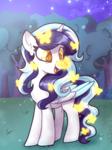 Size: 780x1040 | Tagged: safe, artist:yojohcookie, oc, oc only, oc:roxy lovli pop, alicorn, butterfly, pony, alicorn oc, commission, cute, solo