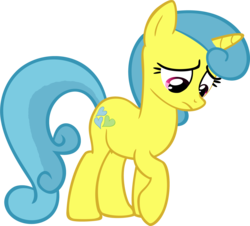 Size: 2711x2447 | Tagged: safe, artist:likonan, edit, vector edit, lemon hearts, pony, absurd resolution, sad, simple background, solo, transparent background, vector