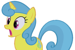 Size: 861x570 | Tagged: safe, artist:kayman13, edit, edited screencap, screencap, lemon hearts, pony, not a vector, shocked, simple background, solo, transparent background
