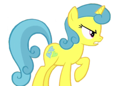Size: 753x532 | Tagged: safe, artist:kayman13, edit, edited screencap, screencap, lemon hearts, pony, angry, not a vector, simple background, solo, transparent background