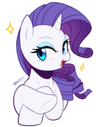 Size: 2028x2508 | Tagged: artist:maren, female, pony, rarity, safe, simple background, solo, sparkles, unicorn, white background