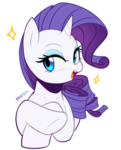 Size: 2028x2508 | Tagged: artist:maren, bust, cute, female, open mouth, pony, portrait, raribetes, rarity, safe, simple background, solo, sparkles, unicorn, white background