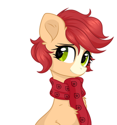 Size: 2875x3068 | Tagged: safe, artist:lazuli, artist:rioshi, artist:starshade, oc, oc only, oc:bead trail, earth pony, pony, female, looking at you, mare, simple background, solo, white background