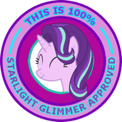 Size: 269x269 | Tagged: safe, starlight glimmer, pony, the crystalling, approval, cute, eyes closed, female, glimmerbetes, reaction image, seal of approval, simple background, smiling, solo, transparent background, vector, waving