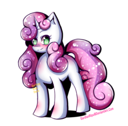 Size: 780x768 | Tagged: artist:gardianripu, blushing, colored pupils, cute, diasweetes, female, growing up is hard to do, mare, older, older sweetie belle, pony, safe, simple background, solo, spoiler:s09e22, sweetie belle, unicorn, white background