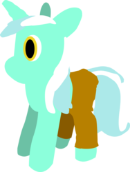 Size: 8494x11296 | Tagged: safe, artist:rebane2001, lyra heartstrings, pony, unicorn, absurd resolution, clothes, creepy, lyra plushie, pants, plushie, solo, vector