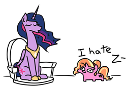 Size: 680x467 | Tagged: ah shit here we go again, alicorn, artist:jargon scott, edit, female, implied racism, luster dawn, lustie, mare, pony, princess twilight 2.0, racism, safe, simple background, spoiler:s09e26, the last problem, the ride never ends, the tables have turned, twiggie, twiggie 2.0, twilight sparkle, twilight sparkle (alicorn), unicorn, woonoggles, ziggers
