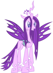 Size: 1823x2500 | Tagged: safe, edit, vector edit, queen chrysalis, starlight glimmer, changeling, changeling queen, ponyar fusion, female, fusion, recolor, simple background, solo, transparent background, vector