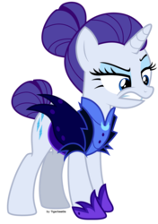 Size: 750x1066 | Tagged: alternate timeline, angry, artist:tigerbeetle, female, lightly watermarked, mare, night maid rarity, nightmare takeover timeline, rarity, safe, simple background, solo, spoiler:s5e25, spoiler:s5e26, takeover, the cutie re-mark, timeline, transparent background, unicorn, upset, watermark