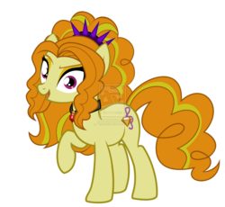 Size: 1600x1473 | Tagged: adagio dazzle, artist:tigerbeetle, battle of the bands, disguise, disguised siren, equestria girls, equestria girls ponified, female, headband, jewelry, necklace, obtrusive watermark, ponified, pony, rainbow rocks, safe, simple background, siren, solo, spiked headband, transparent background, watermark