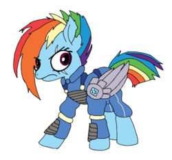 Size: 1024x953 | Tagged: alternate timeline, alternate universe, amputee, apocalypse dash, artificial wings, artist:danksailor, augmented, crystal war timeline, eye scar, female, frown, mare, pegasus, pony, prosthetic limb, prosthetics, prosthetic wing, rainbow dash, safe, scar, solo, the cutie re-mark, wings