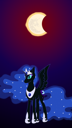 Size: 2160x3840 | Tagged: alicorn, alternate universe, artist:exhumed legume, bad end, crown, derpibooru exclusive, eclipse, ethereal mane, female, flowing mane, hoof shoes, implied princess celestia, jewelry, mare, mare in the sun, mlp fim's ninth anniversary, nightmare moon, peytral, pony, regalia, safe, solar eclipse, solo, sun