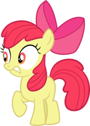 Size: 1677x2356 | Tagged: apple bloom, artist:tourniquetmuffin, bow, cropped, earth pony, edit, editor:slayerbvc, female, filly, hair bow, nervous, safe, simple background, solo, transparent background, twilight time, vector, vector edit