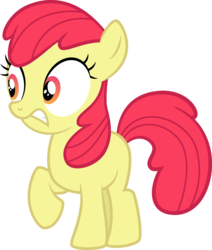 Size: 1677x1976 | Tagged: accessory-less edit, apple bloom, artist:tourniquetmuffin, cropped, earth pony, edit, editor:slayerbvc, female, filly, missing accessory, nervous, safe, simple background, solo, transparent background, twilight time, vector, vector edit