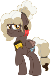 Size: 3125x4688 | Tagged: artist:besttubahorse, award, bun, female, mlp fim's ninth anniversary, oc, oc only, oc:sweet mocha, older, pegasus, plaque, safe, simple background, solo, text, transparent background, vector