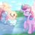 Size: 1620x1622 | Tagged: safe, artist:lilith1light, cozy glow, princess flurry heart, alicorn, pegasus, pony, a better ending for cozy, base used, cozyheart, female, flurryglow, lesbian, older, older cozy glow, older flurry heart, shipping, upside down