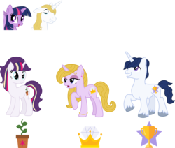 Size: 3566x3018 | Tagged: safe, artist:littlejurnalina, prince blueblood, twilight sparkle, alicorn, pony, female, male, offspring, parent:prince blueblood, parent:twilight sparkle, parents:twiblood, screencap reference, shipping, simple background, straight, transparent background, twiblood, twilight sparkle (alicorn)
