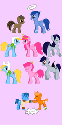 Size: 1000x2000 | Tagged: safe, artist:dmsal1818, pony, adventure time, darwin watterson, finn the human, fionna the human, gumball watterson, marceline, mordecai, ponified, prince bubblegum, princess bubblegum, regular show, rigby, the amazing world of gumball