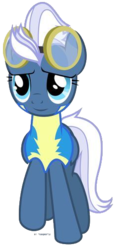 Size: 236x505 | Tagged: safe, artist:tigerbeetle, night glider, pegasus, pony, season 5, background removed, clothes, cute, cute smile, female, front view, happy, lightly watermarked, mare, raised hoof, removed from deviantart, reservation, simple background, smiling, solo, transparent background, uniform, watermark, wonderbolt trainee uniform, wonderbolts, wonderbolts uniform