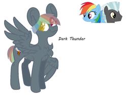 Size: 1047x788 | Tagged: safe, artist:chibisailorsilver, rainbow dash, thunderlane, oc, pony, female, male, offspring, parent:rainbow dash, parent:thunderlane, parents:thunderdash, shipping, straight, thunderdash