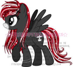 Size: 491x449 | Tagged: safe, artist:kingphantasya, oc, oc:midnight runner, pegasus, pony, :p, bracelet, braid, ethereal mane, jewelry, male, red and black oc, sigil, silver eyes, simple background, solo, starry mane, tongue out, transparent background, two toned mane, two toned tail, watermark