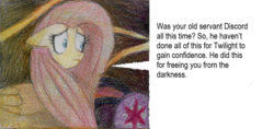 Size: 900x423 | Tagged: alicorn, artist:moonrises, comic:alternative ending, female, fluttershy, implied discord, mare, pegasus, pony, safe, spoiler:s09e25, the ending of the end, traditional art, twilight sparkle, twilight sparkle (alicorn)