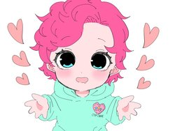 Size: 1024x768 | Tagged: safe, artist:raimugi____, pinkie pie, equestria girls, baby, baby pie, blushing, child, clothes, cute, cutie mark on clothes, daaaaaaaaaaaw, diapinkes, event horizon of cuteness, female, heart, hnnng, hoodie, looking at you, open mouth, paprikapink is trying to murder us, simple background, solo, weapons-grade cute, white background, younger