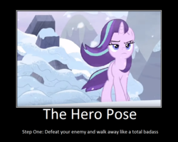 Size: 1075x860 | Tagged: safe, artist:thejboy88, edit, edited screencap, screencap, pony, unicorn, the ending of the end, female, hero pose, mare, motivational poster, solo