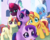 Size: 4993x4000 | Tagged: safe, artist:kids-in-the-corner, artist:those kids in the corner, fizzlepop berrytwist, moondancer, princess celestia, starlight glimmer, sunset shimmer, tempest shadow, trixie, twilight sparkle, alicorn, pony, unicorn, absurd resolution, broken horn, canterlot, castle, counterparts, cute, dancerbetes, diatrixes, female, filly, filly moondancer, filly starlight glimmer, filly sunset shimmer, filly tempest shadow, filly trixie, filly twilight sparkle, glimmerbetes, group photo, happy, horn, hug, looking at you, photo, shimmerbetes, smiling, speedpaint, speedpaint available, store, tempestbetes, tongue out, twiabetes, twilight's counterparts, unicorn master race, unicorn twilight, younger
