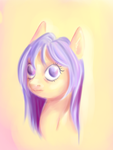 Size: 2487x3315 | Tagged: artist:coco-drillo, bust, colourful, earth pony, oc, orange coat, pony, portrait, purple eyes, purple mane, safe, solo