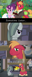 Size: 1280x3056 | Tagged: acceptance, approval, best wishes, better as friends, big macintosh, bittersweet, captions, clothes, comic, congratulations, cute, dialogue, dress, earth pony, edit, edited screencap, epilogue, episode idea, fanfic idea, female, fireplace, friends, friendship, friendshipping, good end, headcanon, hearthbreakers, hearth's warming, heartwarming, hope, husband and wife, i want my beloved to be happy, just friends, lyrics in the description, male, marble pie, mare, married, married couple, moving on, pony, safe, screencap, screencap comic, shipping, ship sinking, shirt, sitting, song, song reference, spoiler:s09e23, stallion, straight, sugar belle, sugarmac, suit, thanks, the big mac question, unicorn, vest, wedding dress, yoke, youtube link