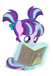 Size: 752x1063 | Tagged: adorable face, artist:chebut, book, cute, cutie pie, female, filly, filly starlight, foal, glim glam, glimmerbetes, levitation, magic, pigtails, pony, reading, safe, simple background, solo, starlight glimmer, telekinesis, transparent background, unicorn, younger