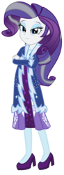 Size: 1575x4269 | Tagged: safe, artist:sketchmcreations, rarity, human, equestria girls, the last problem, spoiler:s09e26, clothes, coat, commission, dress, equestria girls interpretation, female, fur coat, grey hair, high heels, leggings, older, older rarity, scene interpretation, shoes, simple background, transparent background, vector