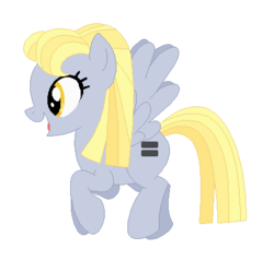 Size: 421x402 | Tagged: alternate hairstyle, artist:hippykat13, base used, derpy hooves, equal cutie mark, equalized, equalized mane, female, mare, pegasus, pony, safe, the cutie map, wings