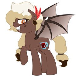 Size: 894x894 | Tagged: alternate cutie mark, alternate mane style, artist:besttubahorse, bat wings, clothes, costume, fangs, freckles, halloween, halloween costume, nightmare night costume, oc, oc only, oc:sweet mocha, safe, simple background, slit pupils, transparent background, vampire, vector, wings