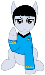 Size: 3024x5078 | Tagged: safe, artist:jennieoo, pony, ponified, spock, star trek