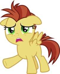 Size: 3000x3695 | Tagged: artist:cloudyglow, friendship student, high res, lemon crumble, open mouth, pegasus, pony, safe, simple background, solo, spoiler:s09e25, the ending of the end, transparent background, upset, vector
