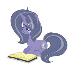 Size: 1924x1904 | Tagged: safe, artist:browniepawyt, oc, oc:moondust, pony, unicorn, base used, book, female, mare, offspring, parent:star tracker, parent:twilight sparkle, parents:twitracker, prone, solo