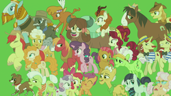 Size: 1920x1080 | Tagged: apple bloom, apple rose, auntie applesauce, autumn blaze, babs seed, big macintosh, braeburn, bright mac, buffalo, burnt oak, cat, cherry jubilee, coloratura, cutie mark crusaders, dog, earth pony, female, flam, flim, flim flam brothers, granny smith, kirin, little strongheart, male, mare, pear butter, pegasus, pony, safe, scootaloo, screencap, spoiler:s09e26, stallion, sweetie belle, the last problem, trouble shoes, unicorn, winona, yak, yona