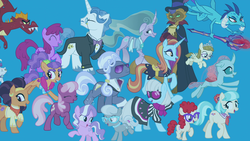 Size: 1920x1080 | Tagged: safe, screencap, berry punch, berryshine, capper dapperpaws, cheerilee, coco pommel, diamond tiara, fancypants, garble, ocellus, opalescence, photo finish, plaid stripes, princess ember, saffron masala, sassy saddles, silver spoon, zippoorwhill, abyssinian, cat, changedling, changeling, dragon, earth pony, pegasus, pony, unicorn, my little pony: the movie, the last problem, spoiler:s09e26, bloodstone scepter, dragoness, female, male, mare, stallion, the magic of friendship grows
