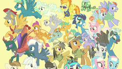 Size: 1920x1080 | Tagged: safe, screencap, aloe, bow hothoof, clear sky, daring do, derpy hooves, dj pon-3, double diamond, featherweight, flash magnus, lotus blossom, night glider, octavia melody, pharynx, quibble pants, rumble, sky stinger, smolder, snails, snips, soarin', spitfire, tank, thunderlane, vapor trail, vinyl scratch, wind sprint, windy whistles, changedling, changeling, dragon, earth pony, pegasus, pony, tortoise, unicorn, the last problem, spoiler:s09e26, dragoness, female, male, mare, prince pharynx, stallion