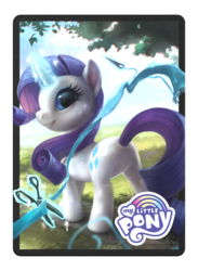 Size: 1024x1400 | Tagged: artist:andrea radeck, magic the gathering, official, ponies the galloping, rarity, ribbon, safe, scissors, sewing needle, solo, tree