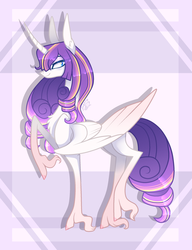 Size: 2029x2641 | Tagged: safe, artist:sugaryicecreammlp, oc, oc only, alicorn, pony, alicorn oc, chest fluff, female, high res, magical lesbian spawn, mare, offspring, parent:rarity, parent:twilight sparkle, parents:rarilight, solo, unshorn fetlocks