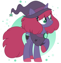 Size: 877x911 | Tagged: artist:midnightamber, base used, cauldron, hat, oc, oc:hocus pocus, pony, safe, simple background, solo, speedpaint, transparent background, unicorn, witch, witch hat